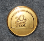 20th Century Fox, Movie company. 23mm, gilt