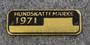 Hundskattemärke 1971, Koiraveromerkki, leimaamaton