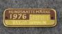 Hundskattemärke 1976, Växsjö Kommun, Koiraveromerkki