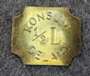 Konsumentföreningen Delary 1/2 LIT. Consumer Co-op, dairy token.  LAST in stock