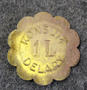 Konsumentföreningen Delary 1 LIT. Consumer Co-op, dairy token. LAST IN STOCK