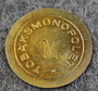 Tobaksmonopolet, Swedish government tobacco monopoly. M, brass