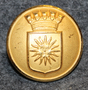 Solna kommun. Swedish municipality, 24mm, gilt