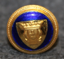 Stockholms kommun. Swedish municipality, 14mm, enameled, cap button
