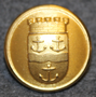 Gävle kommun. Swedish municipality, 23mm, gilt. LAST IN STOCK