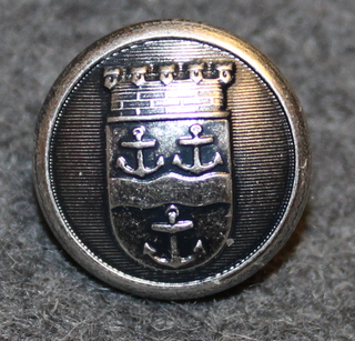 Gävle kommun. Swedish municipality, 14mm, gray polished