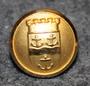 Gävle kommun. Ruotsalainen kunta, 14mm, kullattu, kiillotettu vaakuna