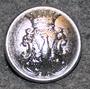 Värmlands län, Ruotsin lääni. 22mm, vanha malli, nikkeli