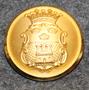 Jönköpings län, Ruotsin lääni. 22mm, vanha malli, kullattu