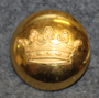 Grevlig krona, Crown of a Count, swedish court livery, 30mm, lens, gilt
