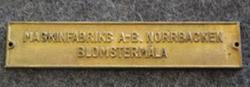 Maskinfabriks A-B Norrbacken, Blomstermåla