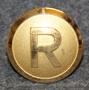 Rottneros AB, metsäteollisuusyhtiö, 23mm, kullattu, lakkinappi