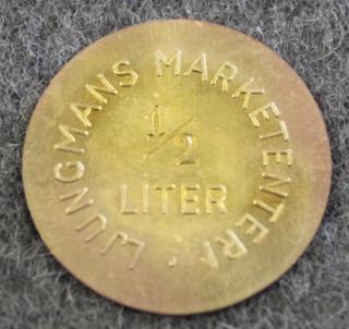 AB Ljungmans Verkstäder, Marketenteri, 1/2 Liter. Bensiinipummpujen valmistaja.