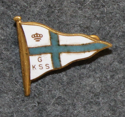 Göteborgs Kungliga Segelsällskap, GKSS, Royal Gothenburg Yacht Club, cap badge, small