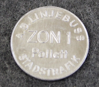 A.B. Linjebuss Stadstrafik, Zon 1 Pollett. 24mm