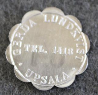 Gerda Ludkvist, Upsala. Tjock Grädde 0,1 LIT.