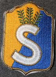 Finnish home guard shoulder sleeve patch: Pori ( satakunta ) district