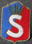 Finnish home guard shoulder sleeve patch: Turunmaa district