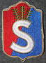 Finnish home guard shoulder sleeve patch: Salo district