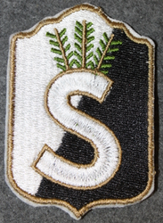 Finnish home guard shoulder sleeve patch: Kymenlaakso district