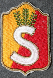 Finnish home guard shoulder sleeve patch: Wasa district