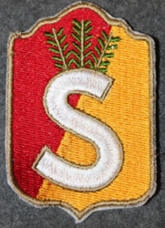 Finnish home guard shoulder sleeve patch: Raseborg district