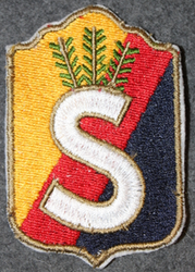 Finnish home guard shoulder sleeve patch: Savonlinna and Saimaa district