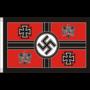 WW2 lippu: Flagge des Reichskriegsministers und Oberbefehshabers der Wehrmacht