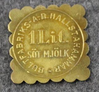 Bultfabriks AB Hallstahammar, Söt Mjölk. 1 Lit, maitorahake
