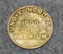 Uno-X Nord AB, 1000 liter premium, Polttoaine rahake.