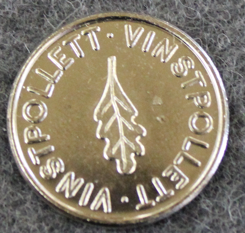 Vinstpollett, pelimerkki, 24.4mm