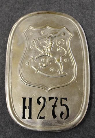 Suomen poliisin virkamerkki, Häme no: 275