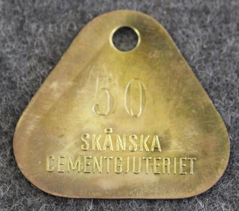 Skånska Cementgjuteriet, Malmö. vanha leimaus