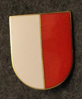 Sveitsin poliisi, lakkimerkki, iso