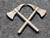 Olkamerkki / satiainen, sveitsin palokunnat, Palokirveet ristissä