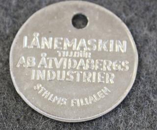 AB Åtvidabergs Industrier, laskukoneiden valmistaja. Lånemaskin - lainakone