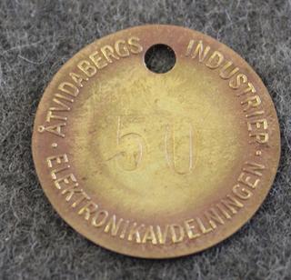AB Åtvidabergs Industrier, laskukoneiden valmistaja. Elektronikavdelning - elektroniikkaosasto