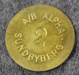 AB Alpha, Sundbyberg, Bakeliitin valmistaja. 2