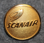 Scanair, airlines, 21mm gilt, LAST IN STOCK