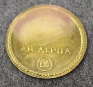 AB Alpha, Sundbyberg, Bakeliitin valmistaja. 30mm