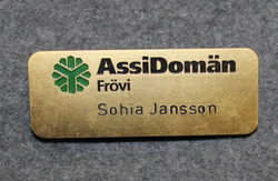 AssiDomän name tag