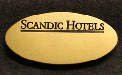 Scandic Hotels, name tag