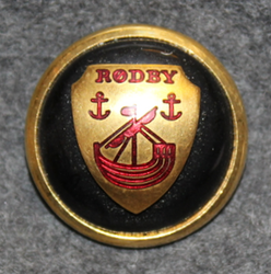 Rødby Kommune. Danish municipality, cap button