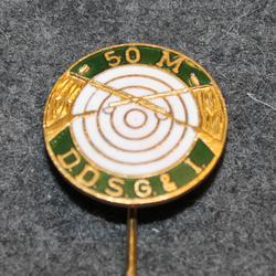 D.d.s.g. & i, De Danske Skytte-, Gymnastik- og Idrætsforeninger, ampumamerkki, 50m vihreä