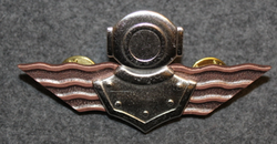Finnish Navy Diver badge. 3rd class.