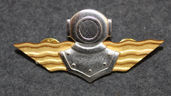 Finnish Navy Diver badge. 1st class.