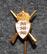 D.d.s.g. & i, De Danske Skytte-, Gymnastik- og Idrætsforeninger, ampumamerkki, kruunu