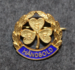 RSF Håndbold, sports pin, 925 silver, gilt