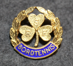 RSF Bordtennis, sports pin, 925 silver, gilt
