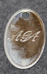 AGA (Aktiebolaget Gasaccumulator), vanha logo, nickel
